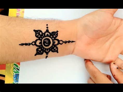 designs simple henna jasa hena indo youtube