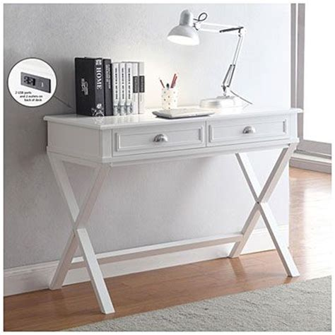 white writing desk with drawers 2 drawer writing desk 159 99 create a space saving office