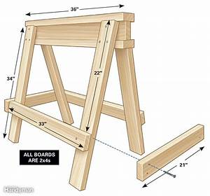 A couple of easy to build Saw Horses Everybody needs a