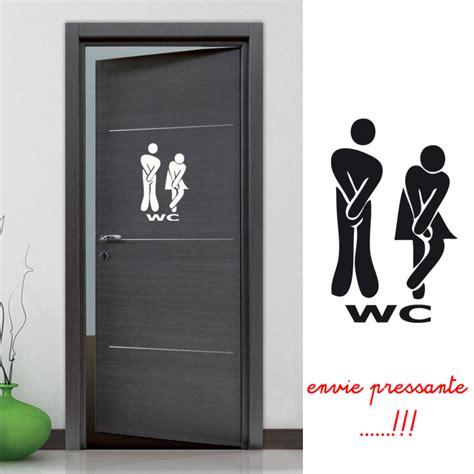 d oration porte de chambre stickers autocollant pour la porte des wc toilettes déco