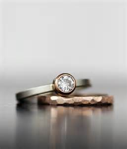 unconventional wedding rings wedding ring set gold stacking alternative moissanite and gold engagement bands unique