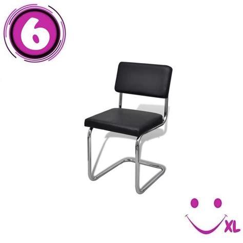 chaise de salon design set de 6 chaises de salon design et moderne en simili cuir