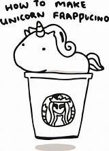 Starbucks Coloring Unicorn Printable Coffee Kawaii Colouring Drawing Frappucino Sheets Simple Activityshelter Cartoon Template Cool Mar Kidsworksheetfun sketch template