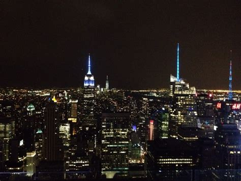Top Of The Rock Observation Deck At Rockefeller Center