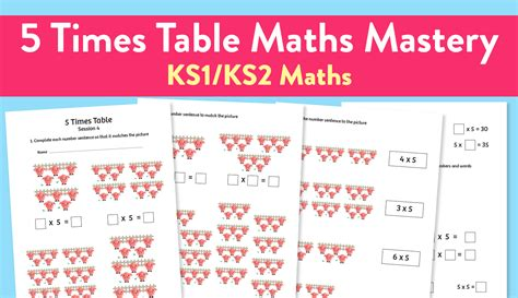 5 times table maths times tables worksheets ks2