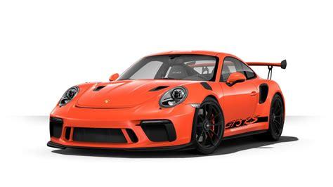 orange porsche 911 gt3 rs 2019 porsche 911 gt3 rs color options