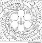 Spiral Coloring Flower Power Peace Pages Printable Patterns Designs Print Adult Colouring Adults Sign Mandala Spirals Optical Illusions Mandalas Illusion sketch template
