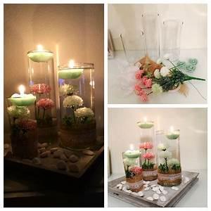 Deko Vasen Mit Blumen : vintage deko vasen mit kerzen und blumen diy pinterest deko und vintage ~ Markanthonyermac.com Haus und Dekorationen