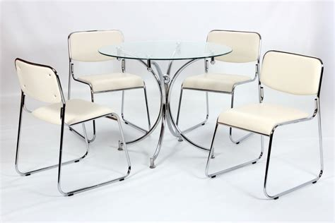 glass table with 4 chairs modern small round glass dining table and 4 chairs