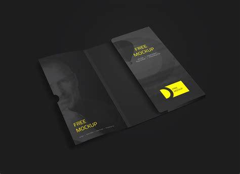 folder  business card mockup mockupworld