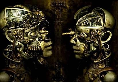 Steampunk Machines Skulls Landscapes Machine Gear Wallpapers