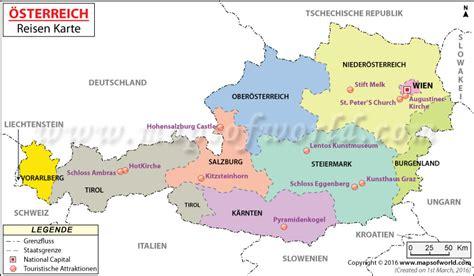 oesterreich karte landkarte oesterreich bundesstaaten