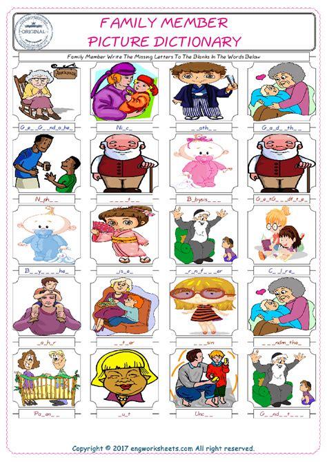 family members writing worksheet  worksheet blog