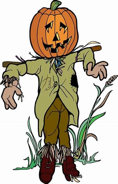 Scarecrow Clip Pumpkin Clipart Halloween Scary Cliparts