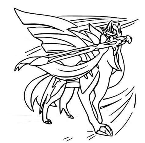 ザシアン zacian1) est un pokémon légendaire de type fée de la 9 apparitions dans le dessin animé. Coloriage Pokémon Epée et Bouclier : Zacian 28