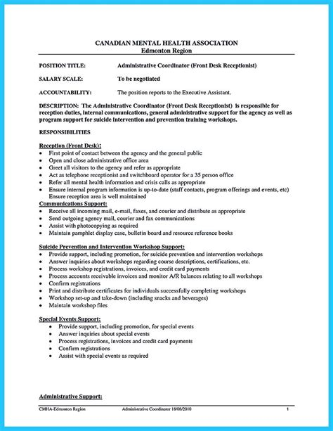 Cool Resume by Cool Impressive Professional Administrative Coordinator