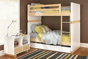 Hochbett Für Zwei Kinder : kinderzimmer f r zwei kinder mit kompakten etagenbetten einrichten ~ Sanjose-hotels-ca.com Haus und Dekorationen