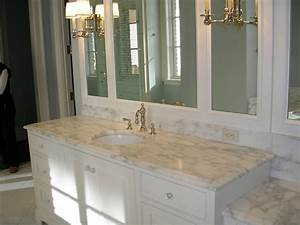 Best color for granite countertops and white bathroom for Granite for bathrooms