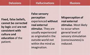Delusions vs Hallucinations vs Illusions | Bimaristan Al ...