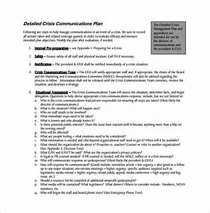 communication plan template sop proposal With disaster recovery communication plan template