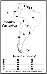South America Map Blank Worksheet