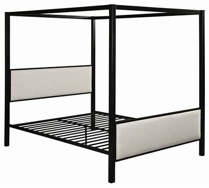 Canopy Bed Iron Fabric Queen Frame Kama