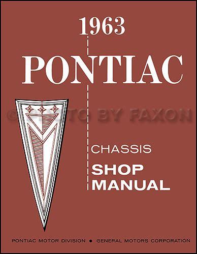 Pontiac Repair Shop Manual Original Catalina Star