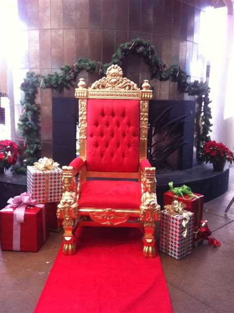 santa chair gorgeous gold leafed throne w suede
