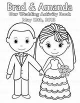 Coloring Printable Personalized Activity Pages Bride Couple Pdf Groom Activities Sugarpiestudio Own sketch template
