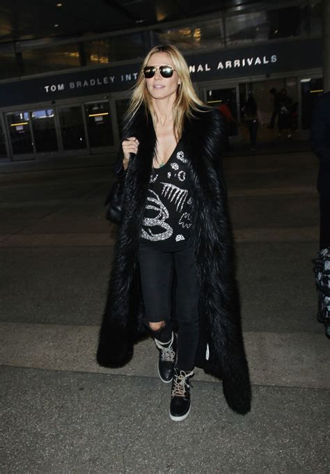Heidi Klum Arriving Tom Bradley International Air