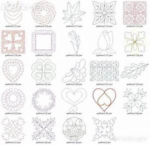 free hand quilting designs design machine embroidery With hand quilting designs templates