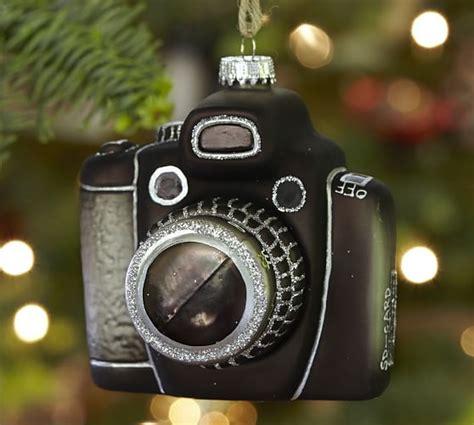 camera christmas ornament vintage glass ornament pottery barn