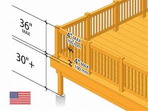 Deck Railing Height Diagrams  U0026 Code Tips