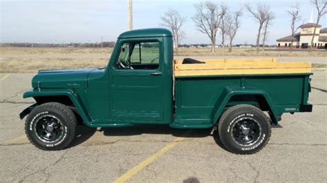 willys jeep truck green 1954 jeep willys pick up for sale photos technical