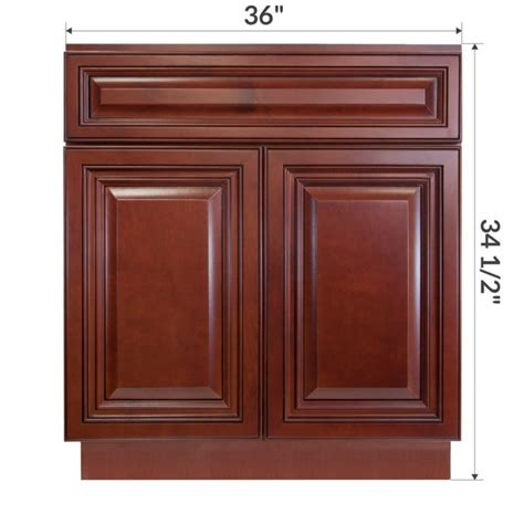 How Are Bathroom Base Cabinets by Vsb3621345 Cherryville 36 Quot Vanity Sink Base Cabinet Rta