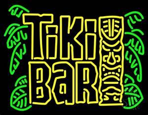 Retro Tiki Bar Neon Sign