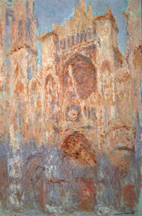 design  fine claude monet rouen cathedral facade