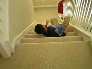 10 Year Old Kid Falling Down teh Stairs - YouTube