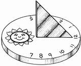 Sundial Coloring Template Howstuffworks Sketch Shadow Activities Dia Hora Domingo sketch template