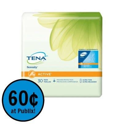 43209 Out Pads Coupons by Tena Pads Just 60 162 At Publix