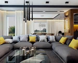 graues wohnzimmer akzente modernes wohnzimmer mit dunklem sofa einrichten 55 ideen