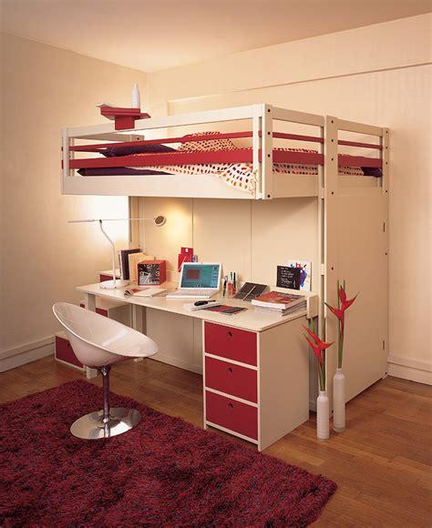 bureau lit lit mezzanine dressing bureau table de lit