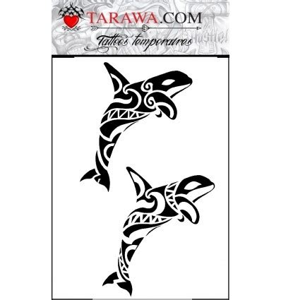 tatouage ephemere orque maori tarawa piercing