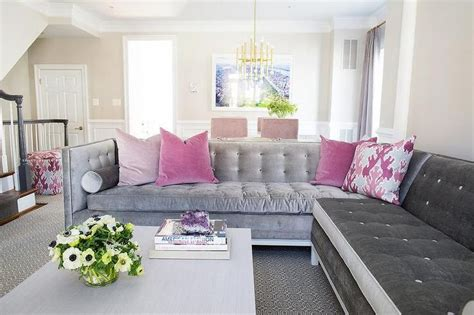 ideas  tufted sectional  pinterest tufted