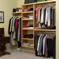 walk in closet systems New Solid Wood Honey Maple Walk In Closet Organizer ...