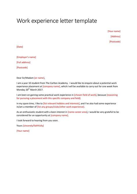 experience letter templates    premium
