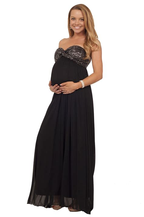 belk bridesmaid dresses maternity metallic strapless twisted empire waist formal special occasion maxi dress
