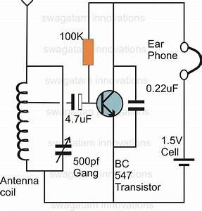 single transistor radio receiver circuit With circuit receiver