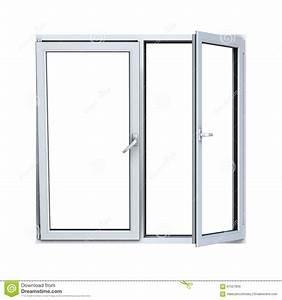 Open Plastic Window Frame Stock Illustration - Image: 61527800