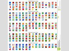 Rounded Square Vector National Flag Icons Stock Vector